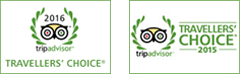 Trip Advisor 2015 and 2016 awards