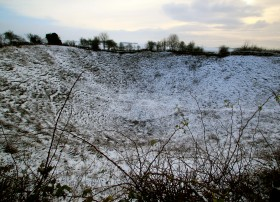 Lochnagar Crater in the snow