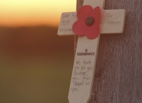 Poppy Cross at Lochnagar