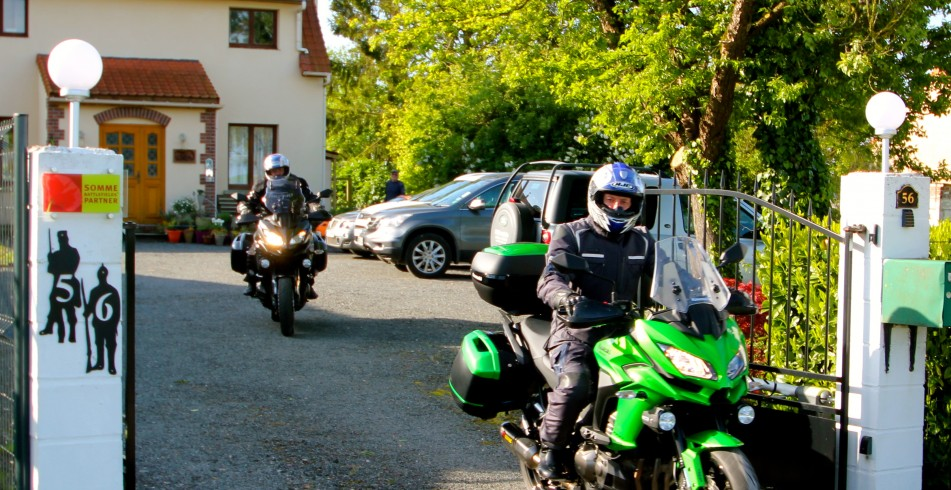 Mark and Mike from Manchester on their trip to The Somme to give their new bikes a serious road test